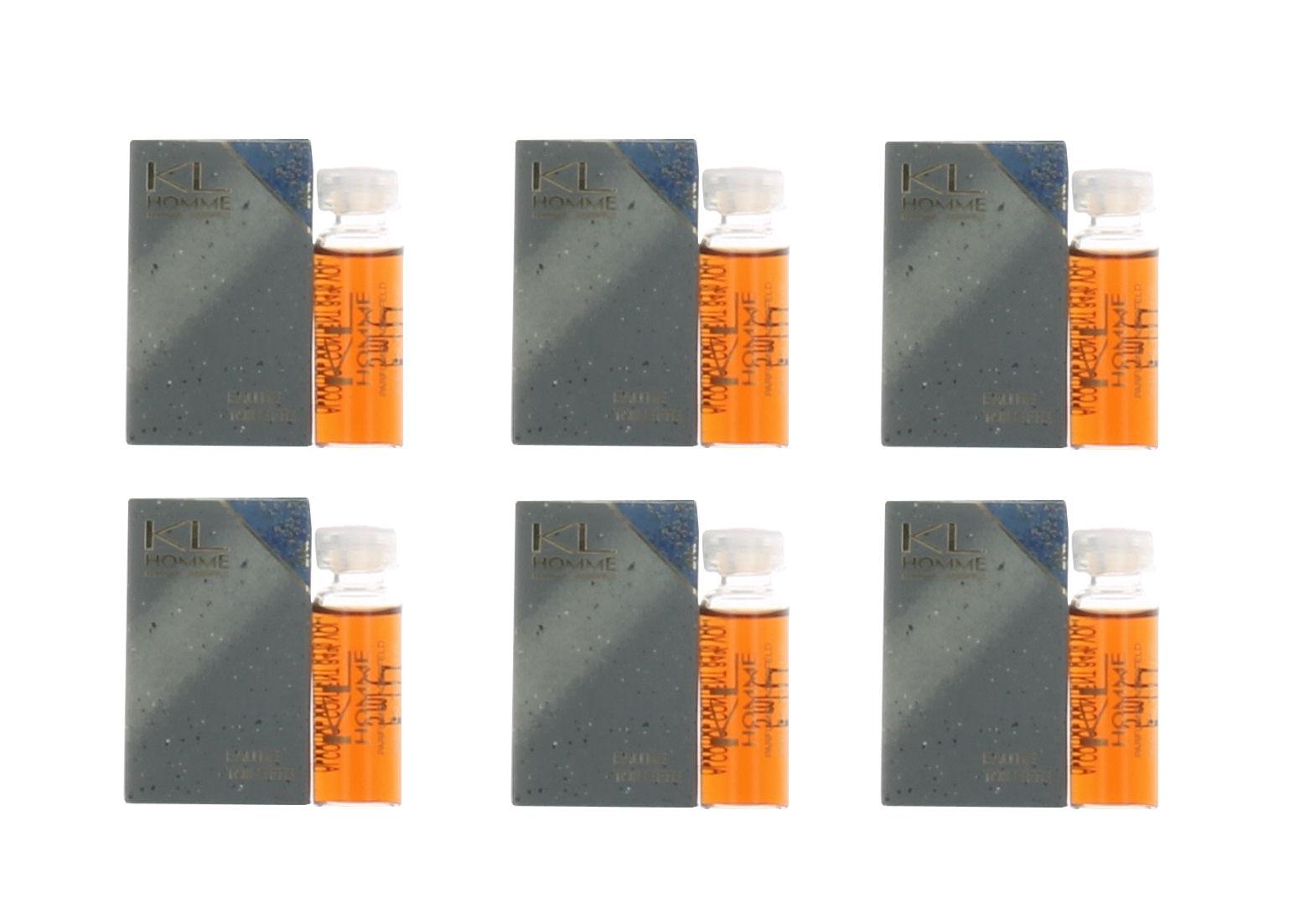 Karl Lagerfeld KL Homme (M) Mini EDT Splash .17oz NIB 6PK