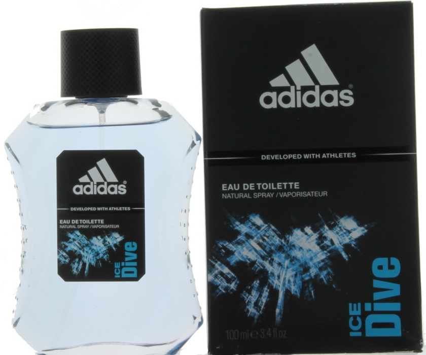 Ice Dive By Adidas For Men Edt Cologne Spray 34 Oz Damaged Box