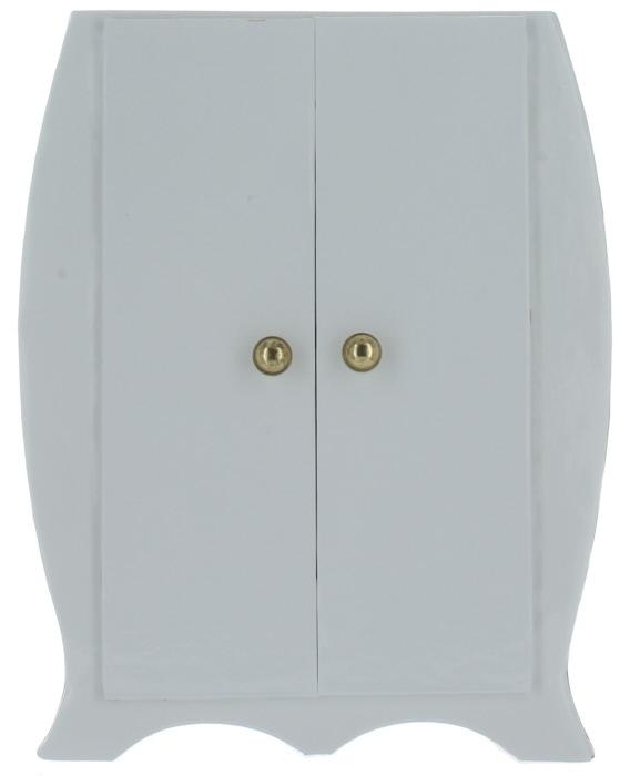 Image of Ines de La Fressange (W) White Jewelry Box w/ Lavender inter