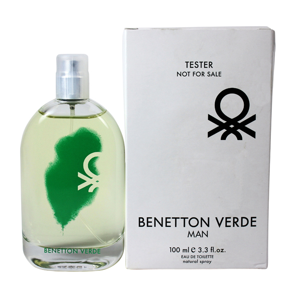 Verde by benetton for men edt spray 3 3 oz tester palm for Benetton usa online shop