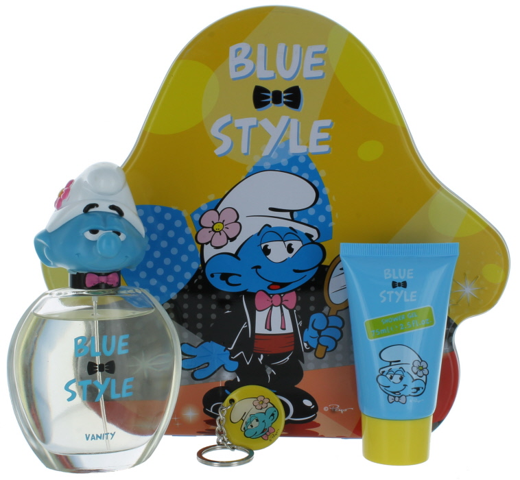 the smurfs vanity by hannabarbera for kids set edt spray