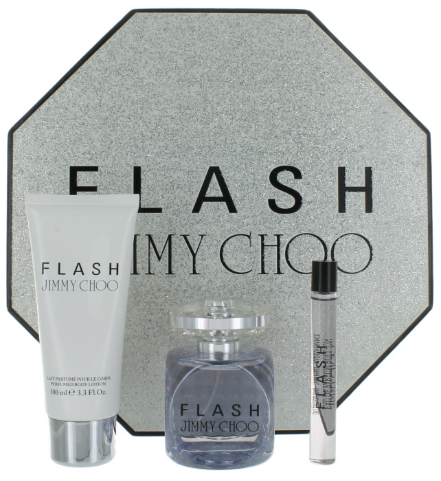 a94c5c3a50ee Flash by Jimmy Choo for Women Set - EDP Perfume Spray 3.3 oz.+Body Lotion  3.3 oz.+Miniature EDP Roll-on 0.33 oz. New in