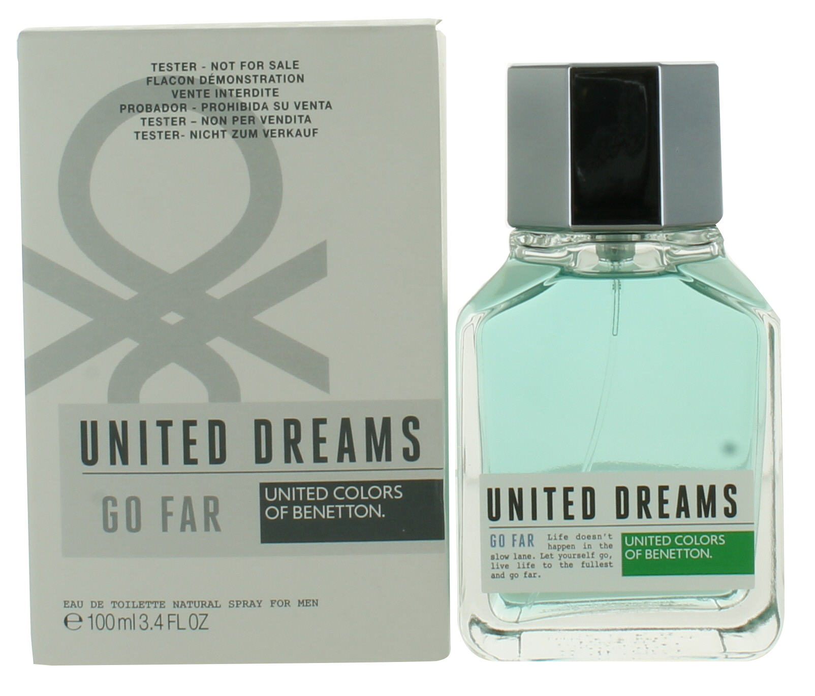 Benetton United Dreams Go Far (M) EDT 3.4oz Tester