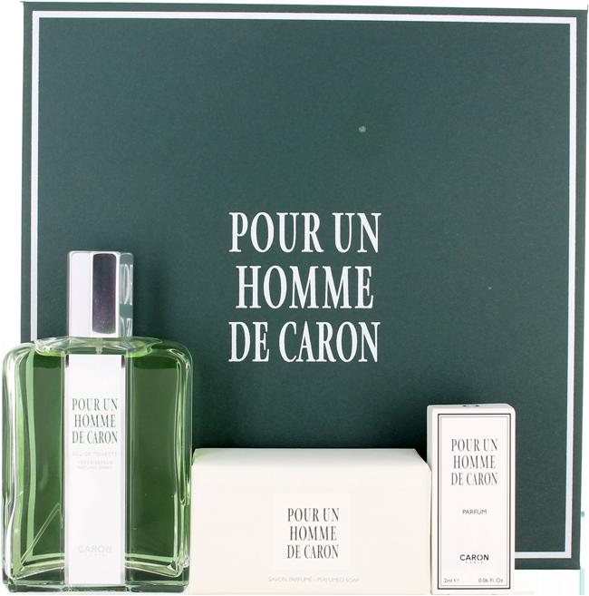 Caron Pour Un Homme de Caron (M) Set: EDT spr + Soap + Mini